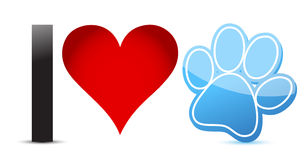 I love pets illustration design Royalty Free Stock Image