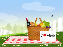 I love picnic Royalty Free Stock Photo