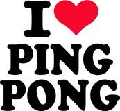 I love ping pong. Vector Stock Images