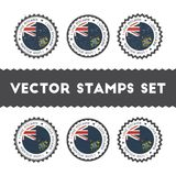 I Love Pitcairn vector stamps set. Stock Photo