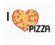 I love pizza Royalty Free Stock Photo