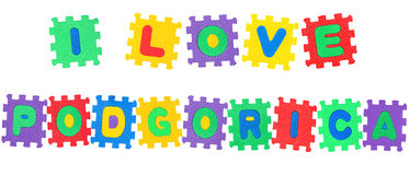I Love Podgorica Stock Image