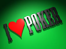I love Poker 1 Stock Images