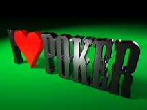 I love Poker 1 Royalty Free Stock Photo
