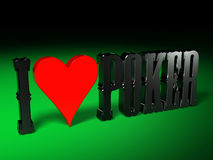 I love Poker 1 Stock Photos
