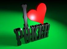 I love Poker 1 Stock Images