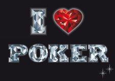 I love poker. casino card,  Stock Image
