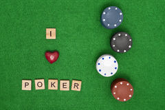 I love poker concept Stock Photos