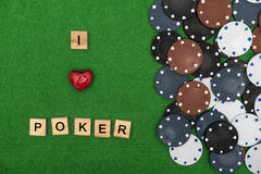 I love poker concept Stock Image