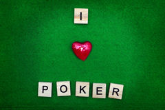 I love poker concept Royalty Free Stock Image