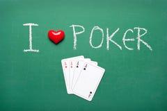 I love poker Royalty Free Stock Photo