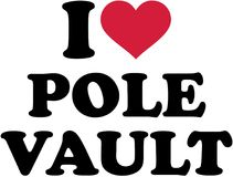 I love pole vault. Vector Stock Images