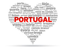 I Love Portugal Stock Photography