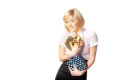 I love presents!=) Royalty Free Stock Photo