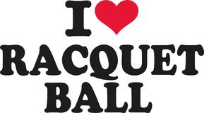 I love racquet ball. Vector Royalty Free Stock Images
