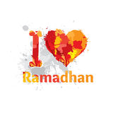 I Love Ramadhan. Ramadhan lover . to make happy ramadhan stock illustration
