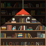 I love reading banner. Royalty Free Stock Image