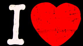I love red heart. An Image of I love with a red heart Stock Photo