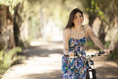 I love riding my bicycle Royalty Free Stock Photography