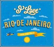 I love Rio De Janeiro. Vector illustration Stock Image