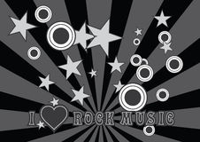 I love rock music Royalty Free Stock Images