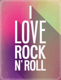 I love rock and roll typographic design. Stock Photography