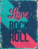 I love rock and roll. Vector illustration Stock Image
