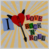 I love rocknroll poster Stock Images