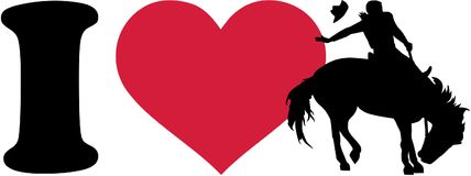 I love rodeo cowboy. Vector vector illustration