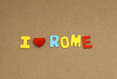 I love rome Royalty Free Stock Photo