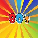 I Love 80s Eighties Sign Disco Rap Rock Retro Trendy Pop Art Culture Vintage . Vector EPS 10.  royalty free illustration