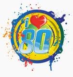 I love 80s music symbol. Isolated on white vector illustration