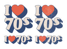 I Love 70s Royalty Free Stock Image