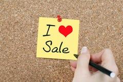 I Love Sale Royalty Free Stock Photo