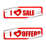 I love sale and offer tags Stock Photos