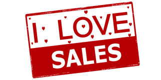 I love sales Stock Photography