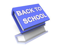 I love school back to school blue big book 3d Royalty Free Stock Photos