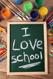 I love school, back to school concept, vertical Royalty Free Stock Photo