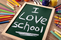 I love school, back to school concept Stock Photos