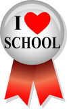 I Love School Button/eps royalty free illustration