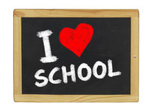 I love school on a chalkboard Royalty Free Stock Images