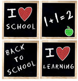 I love School on Chalkboard Stock Photos