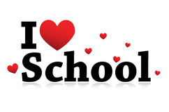 I Love School icon Stock Image