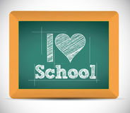 I love school message illustration design Stock Photos