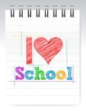 I love school sign. Illustration design over white Stock Image