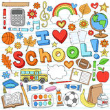 I Love School Supplies Vector Design Elements Royalty Free Stock Photo