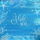 I love sea card Stock Photo