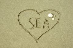 I love the sea Royalty Free Stock Images