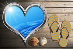 I Love Sea Holidays Royalty Free Stock Photography