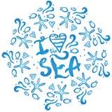 I love the sea Stock Photos